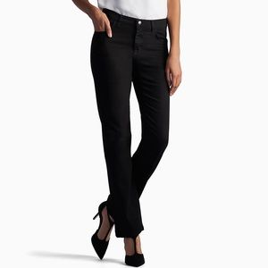 Lee Relaxed, High Rise, Straight Leg Jeans Black